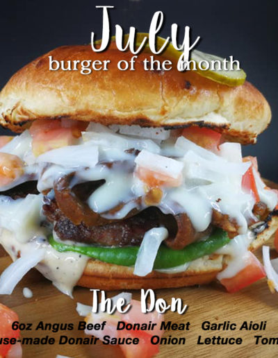 July burger of the month